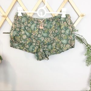 VS // Green paisley sleep shorts